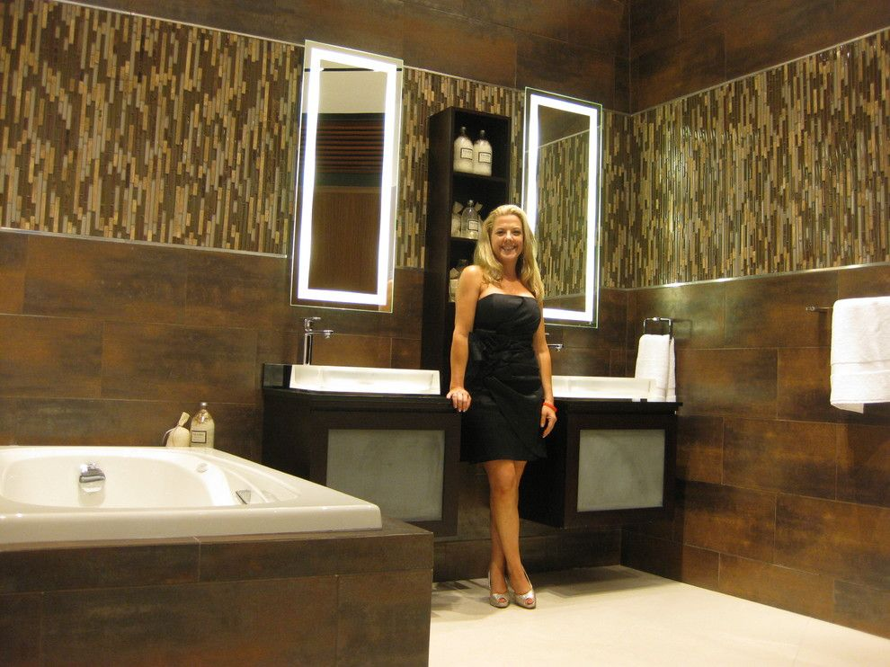 Pirch for a Contemporary Bathroom with a Contemporary and Bathroom Vignettes   Pirch Showroom by Audra Miller Interiors