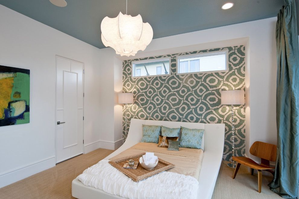Pittsburgh Paints for a Contemporary Bedroom with a Floor Lamps and Rough Hollow Parade Home by Ppds