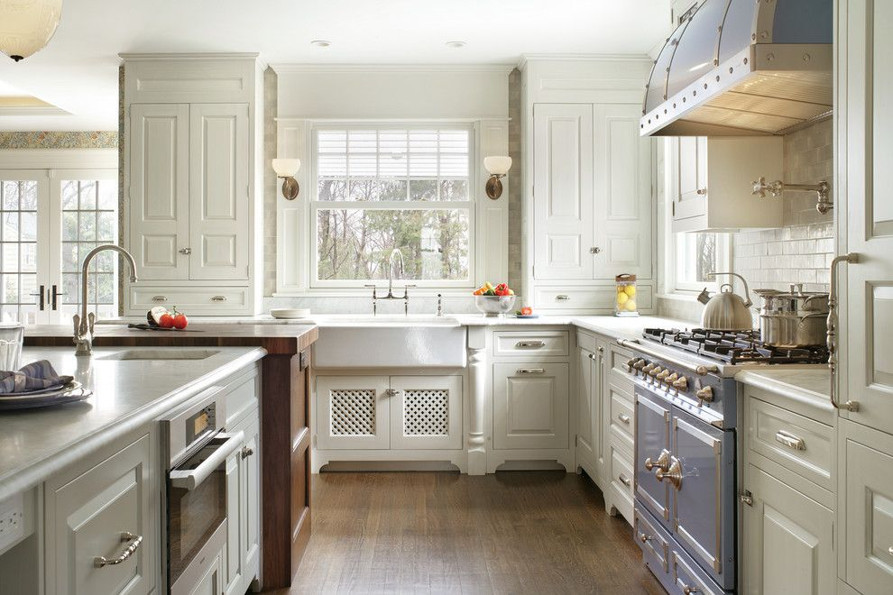 Platte Furniture for a Victorian Kitchen with a Wall Sconces and Fairmount Historic Renovation by Siegel Architects