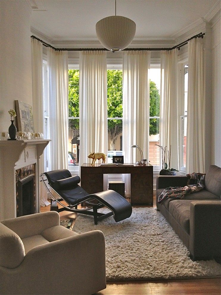 Platts Furniture for a Eclectic Living Room with a High Pile Rug and Hayes Valley Residence by Ian Stallings