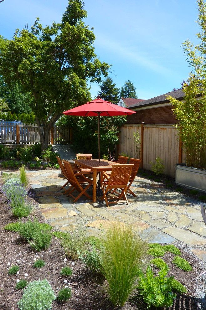 Platts Furniture for a Traditional Patio with a Galvanized Tub and Ballard Landscape by Erin Lau Landscape Design  Seattle