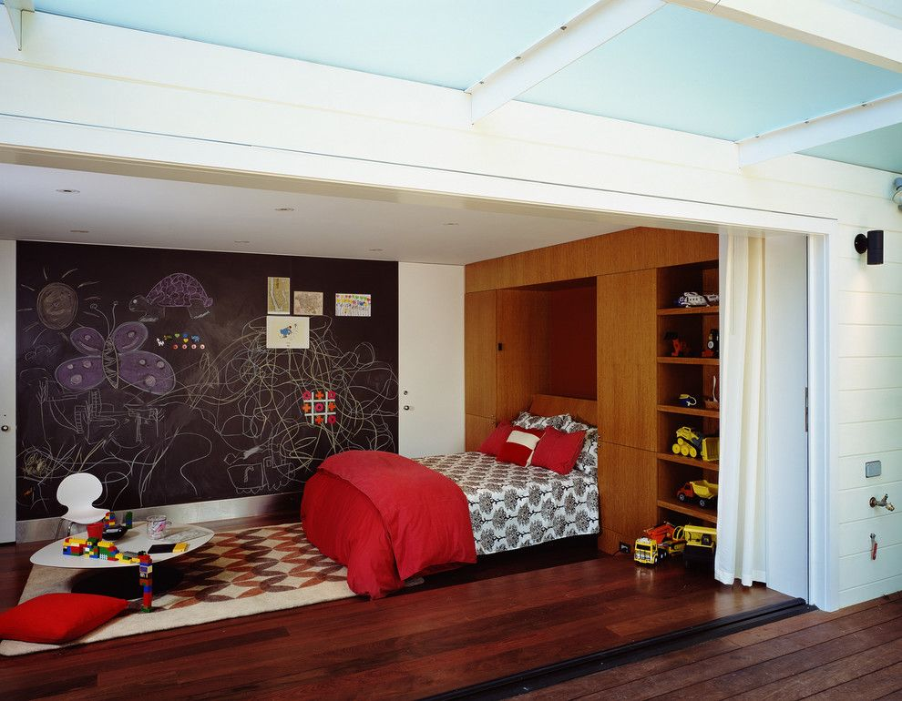 Playroom Ideas for a Contemporary Kids with a Bedroom and Cary Bernstein Architect Eureka Valley Residence by Cary Bernstein Architect