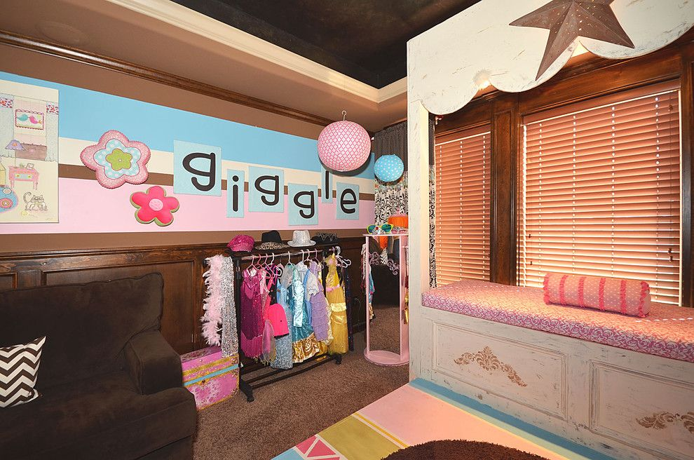 Playroom Ideas for a Traditional Kids with a Stage and Playroom by Surface to Surface Interior Design/construction