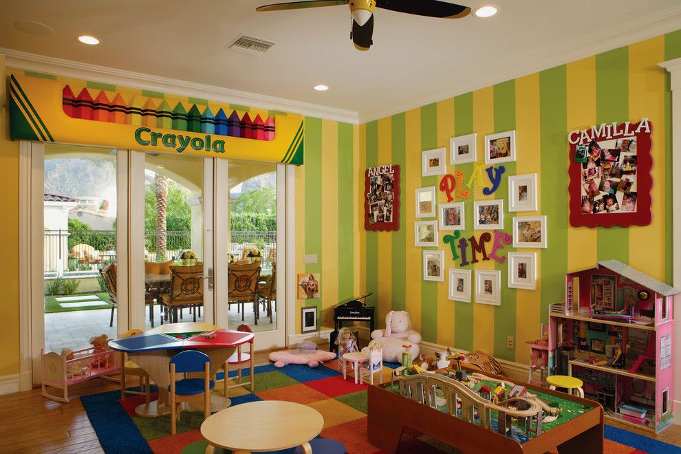 Playroom Ideas for a Transitional Kids with a Functional and Chic Luxury by Guided Home Design