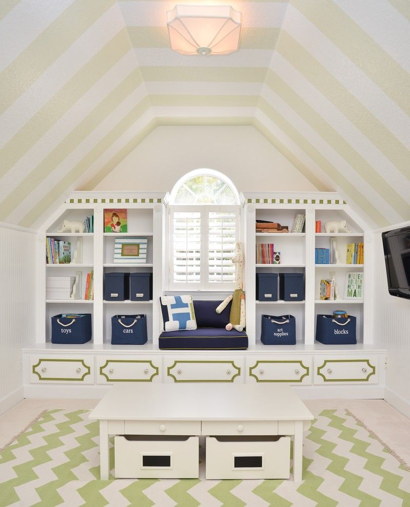 Playroom Ideas for a Transitional Kids with a Nursery Design and Winter Park, Florida by Ray Interior Design