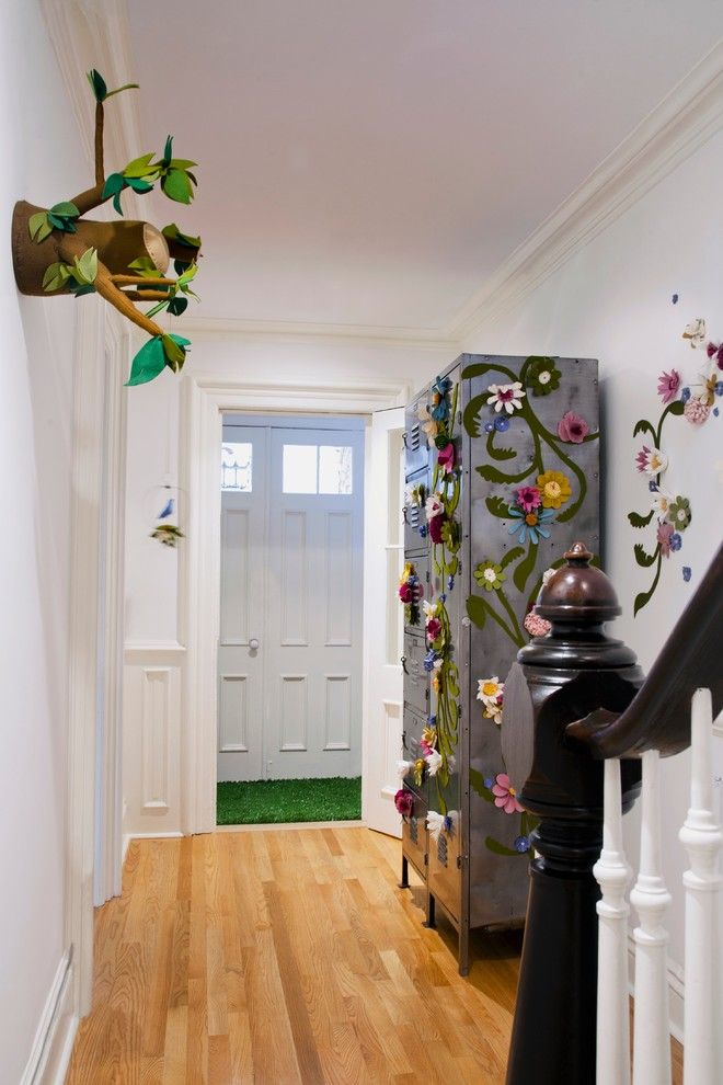 Playrooms for a Contemporary Kids with a Bright Colors and Brooklyn Playroom by Jen Talbot Design