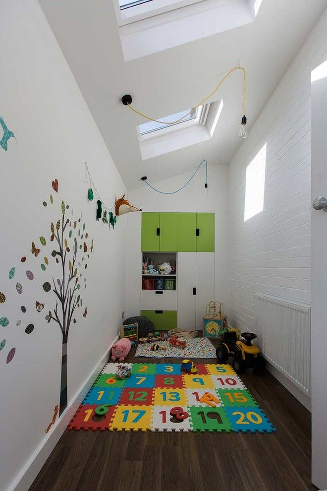 Playrooms for a Contemporary Kids with a Velux Rooflights and Hunsworth Lane by Parkdesigned Architects