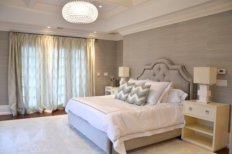 Plexi Craft for a Beach Style Bedroom with a Coffered Ceiling and Beach Style Bedroom by D2interieurs.com