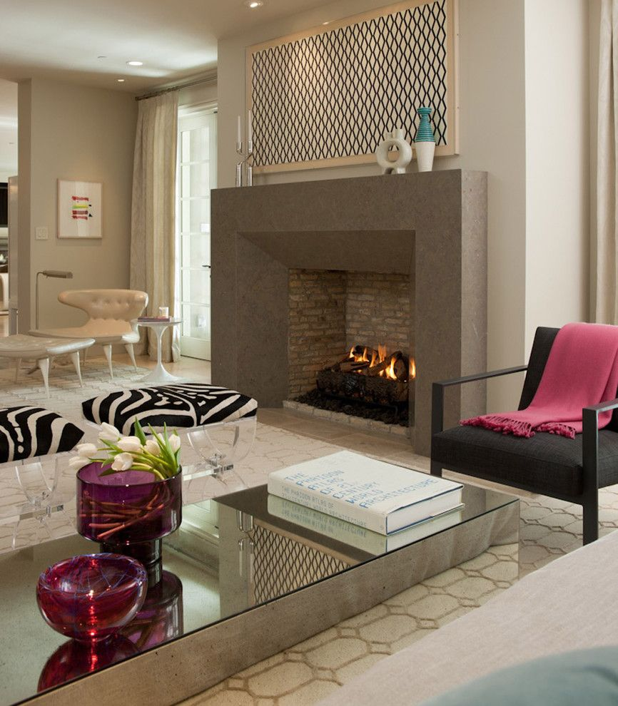 Plexi Craft for a Contemporary Living Room with a Contemporary and Sleek Fireplace Design by California Home + Design