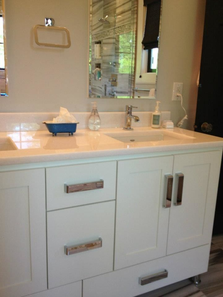 Plumb Supply for a Contemporary Bathroom with a Contemporary and Spaces Supplied by Prosource by Prosource Plumbing Supply