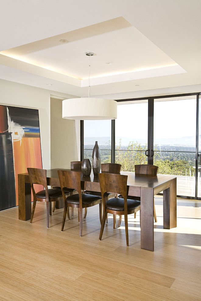 Plummers Furniture for a Contemporary Dining Room with a Wood Dining Table and Dining Room by Mark English Architects, Aia
