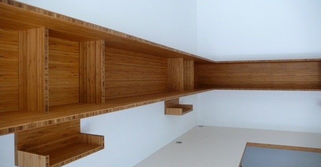 Plyboo for a Contemporary Spaces with a Plyboo and Plyboo Office by Hirsch Custom Cabinets, Inc.