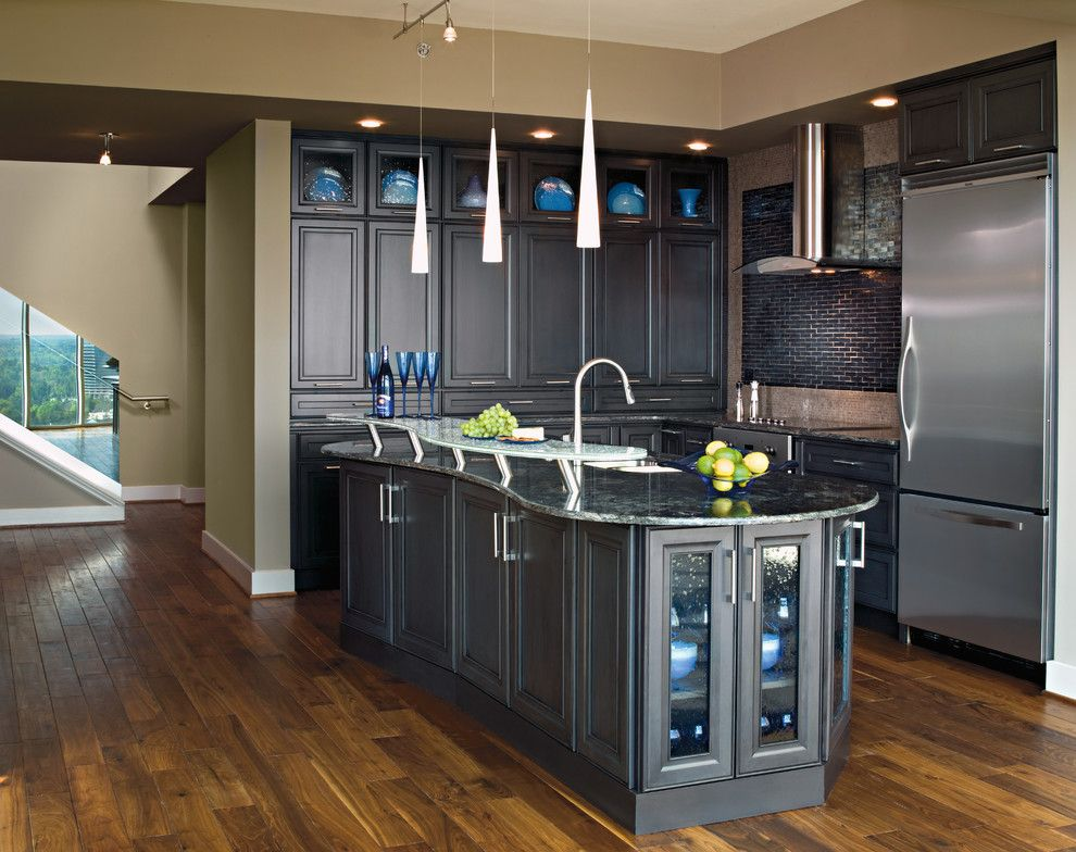 Plywood Flooring Ideas for a Contemporary Kitchen with a Granite and Kitchen Cabinets by Capitol District Supply