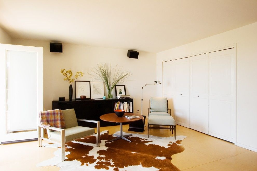 Plywood Flooring Ideas for a Contemporary Living Room with a Armchair and 918 by Emily Jagoda