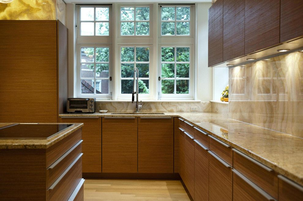 Poggenpohl for a Contemporary Kitchen with a Large Kitchen Faucet and Poggenpohl by Poggenpohl