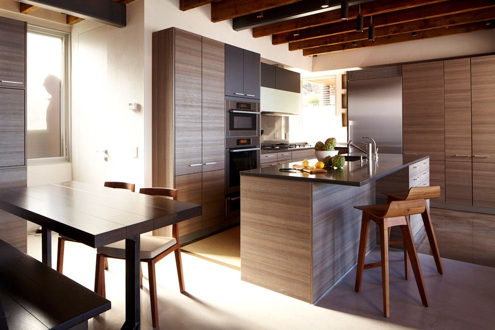 Poggenpohl for a Modern Kitchen with a Bench Seat and Port Washington Residence by Narofsky Architecture + Ways2design
