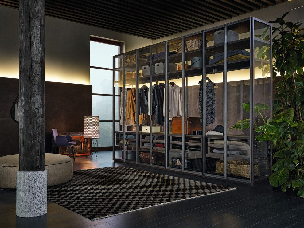 Poliform for a Contemporary Closet with a Sleek and Poliform Ego Walk in Closet by Poliform Usa