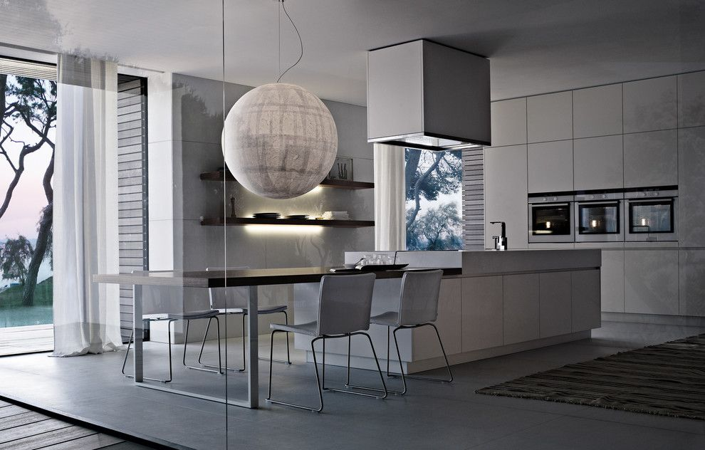 Poliform for a Contemporary Kitchen with a Italian Kitchen and Poliform Varenna   Alea by Poliform Houston
