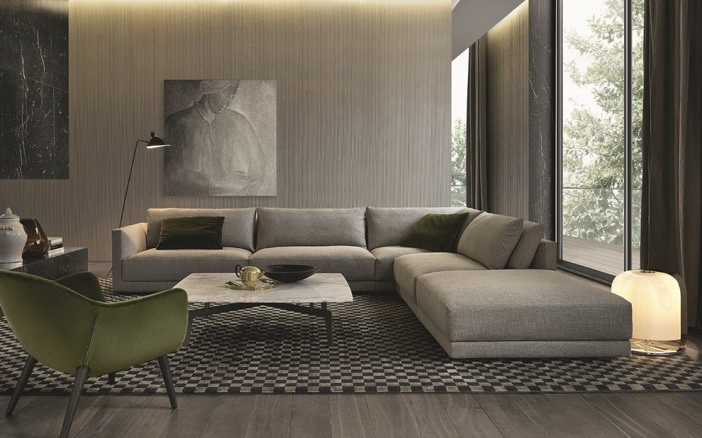 Poliform for a Contemporary Spaces with a Poliform and Sofas by Poliform Usa