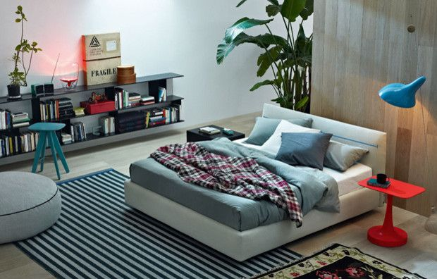 Poliform Usa for a Contemporary Bedroom with a Bed and Bedroom by Poliform Usa