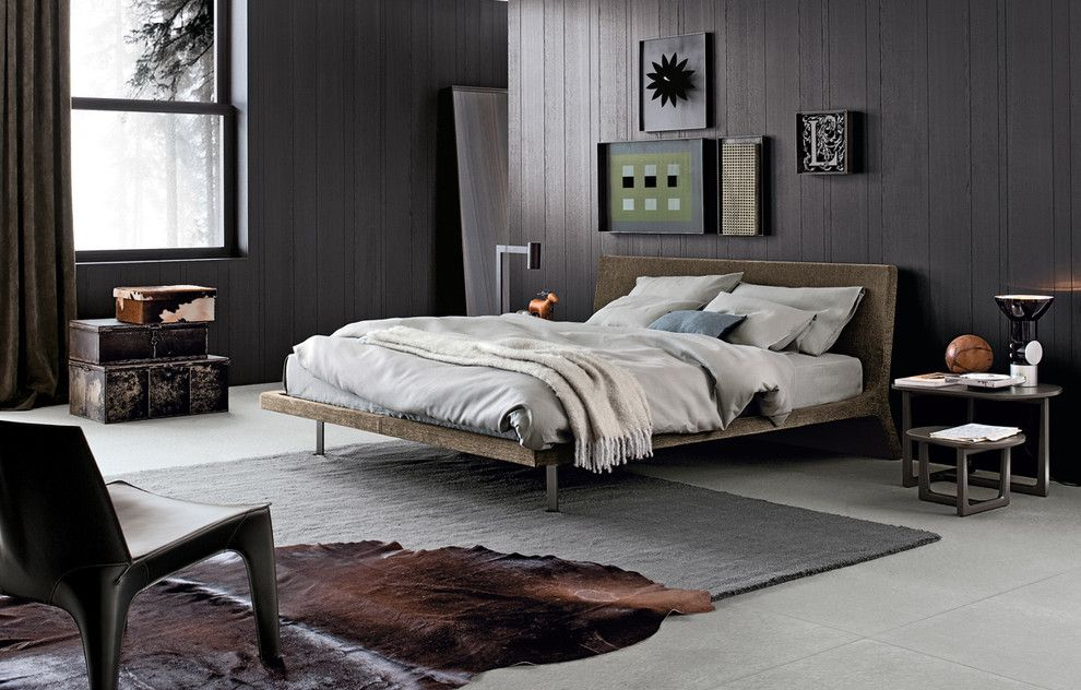 Poliform Usa for a Contemporary Bedroom with a Poliform and Angie Bed by Poliform Usa