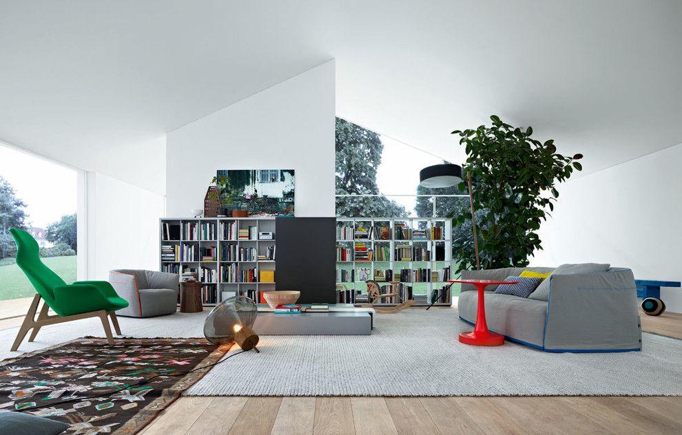 Poliform Usa for a Contemporary Family Room with a Living Room and Living Room by Poliform Usa