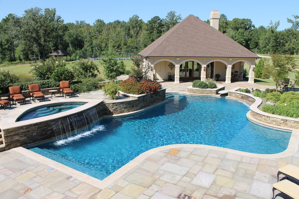 Pool and Spa Depot for a Southwestern Pool with a Custom Inground Pool and Inground Pools by Pool and Spa Depot Inc.,