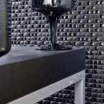 Porcelanosa for a Modern Bathroom with a Porcelanosa San Jose and Porcelanosa Mosaico Air Black Wall Tiles by Porcelanosa