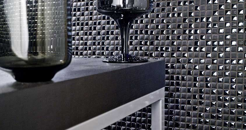 porcelanosa for a modern bathroom with a porcelanosa san jose and porcelanosa mosaico air black wall