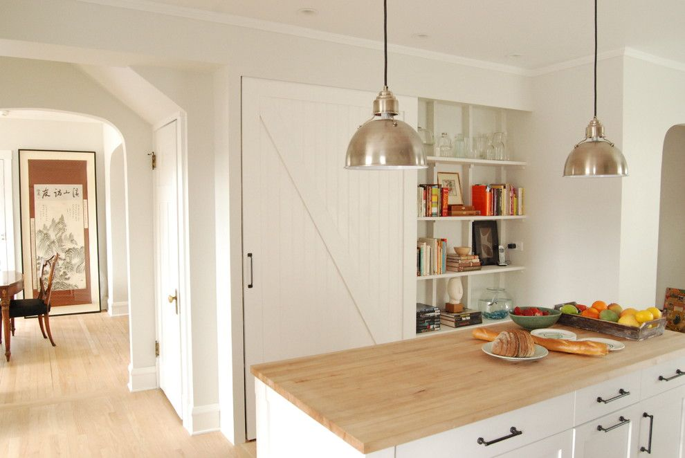 Porter Barn Wood for a Farmhouse Kitchen with a Island and Northside Residence by Rebekah Zaveloff | Kitchenlab