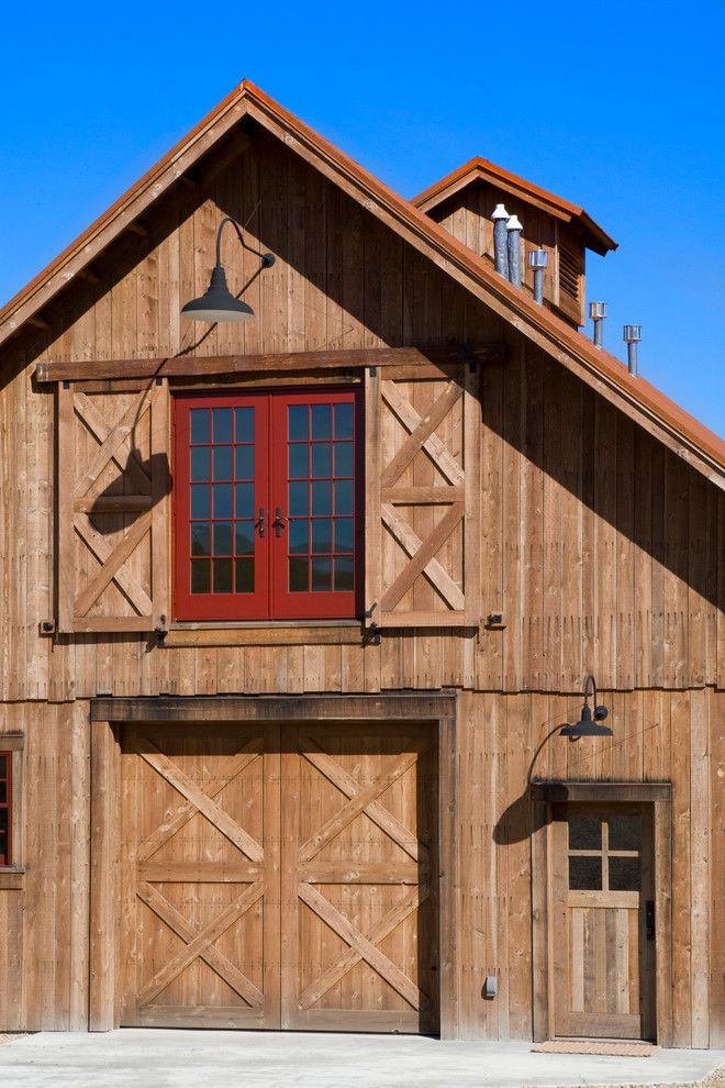 Porter Barn Wood for a Rustic Shed with a Exterior Lighting and R.l. Barn by Yellowstone Traditions