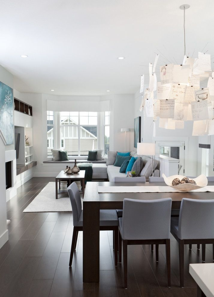 Portico Designs for a Contemporary Dining Room with a Wood and Roxton by Portico Design Group
