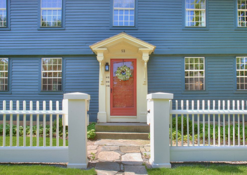 Portico Designs for a Traditional Entry with a Lap Siding and Front Entry by Ck Architects