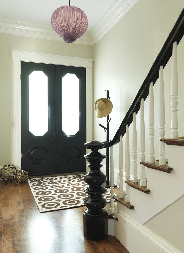 Poshtots for a Traditional Entry with a White Wood and Entry by Rachel Reider Interiors