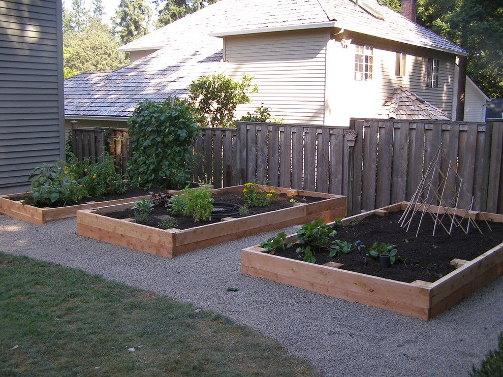 Potager Garden for a Traditional Landscape with a Vegetable Garden and Garden Shots by Apogee Landscapes Llc