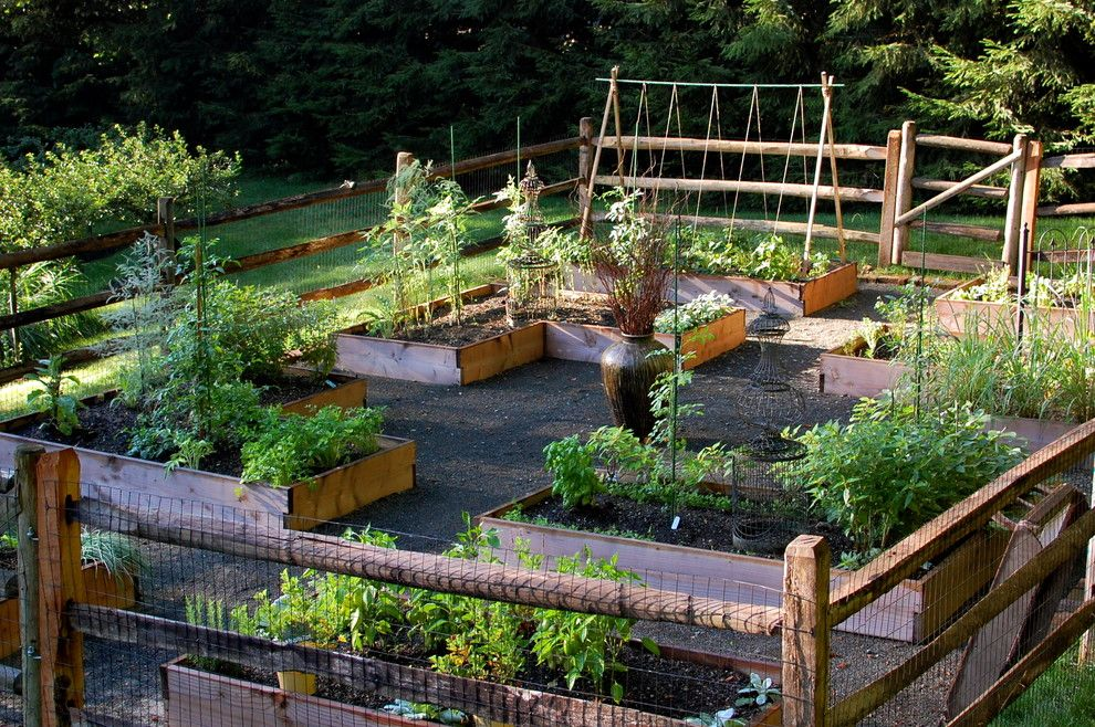 Potomac Garden Center for a Traditional Landscape with a Vegetable Garden and Raised Bed Vegetable Garden by Earth Mama Landscape Design