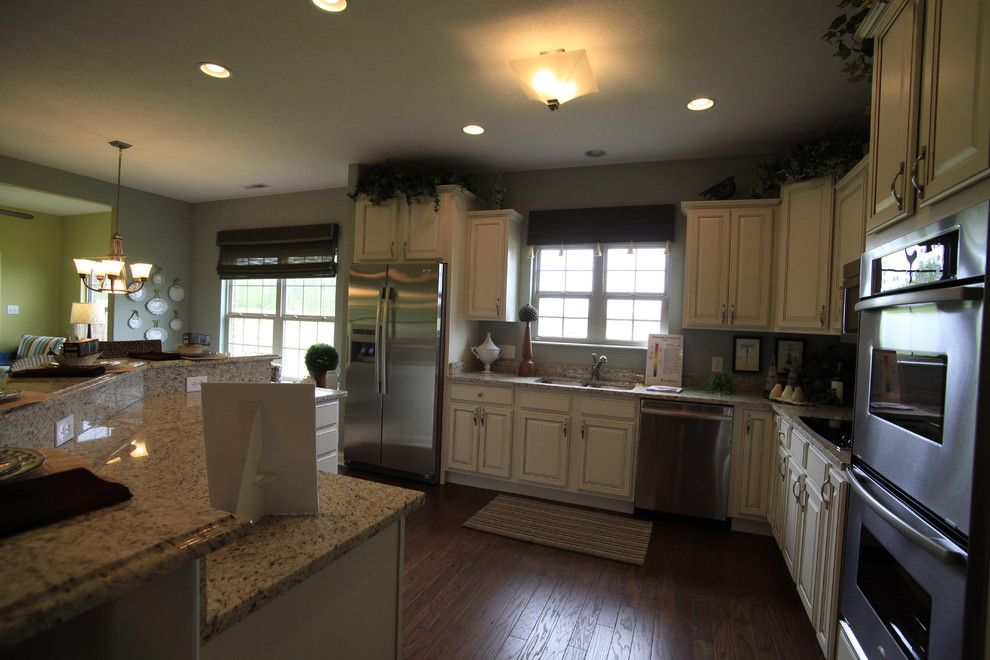 Potterhill Homes for a Traditional Kitchen with a Traditional and the South Hampton Model Home by Potterhill Homes by Potterhill Homes, Llc