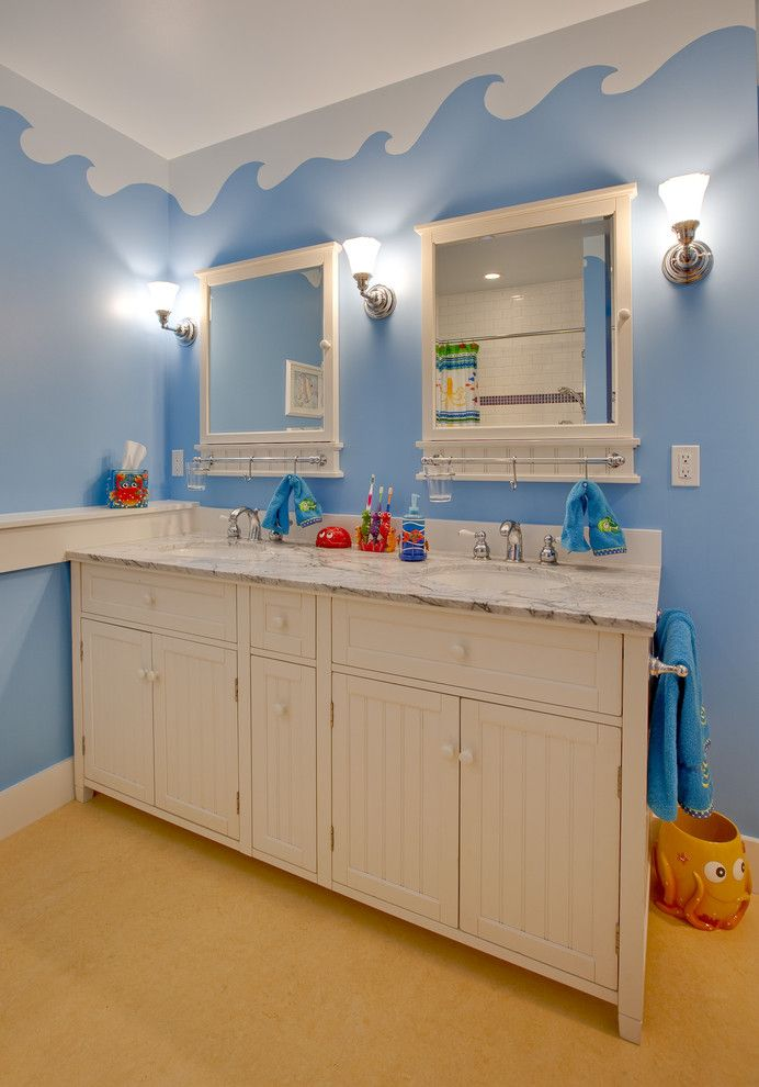Pottery Barn Knock Off for a Traditional Bathroom with a Kids Bathroom and Lake Washington Whole House Remodel by Ventana Construction Llc