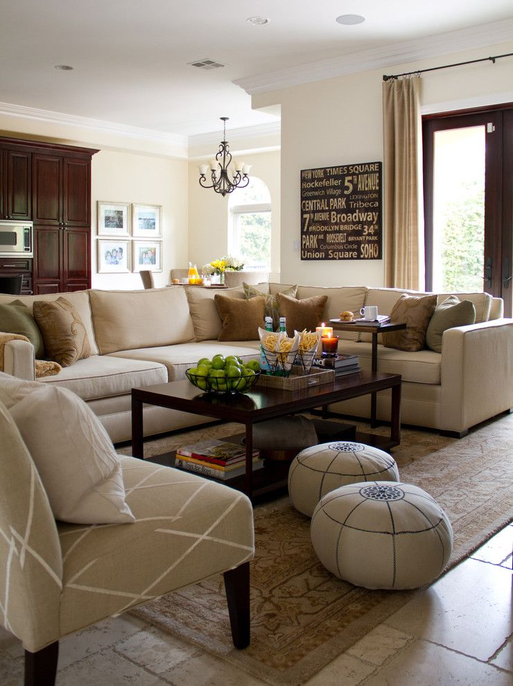 Pottery Barn Knock Off for a Traditional Family Room with a Armchair and California Casual Family Room by A.s.d. Interiors   Shirry Dolgin, Owner