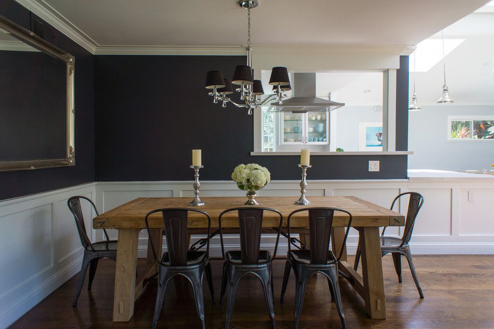 Pottery Barn Knock Off for a Transitional Dining Room with a My Houzz and My Houzz: Marin by Hoi Ning Wong