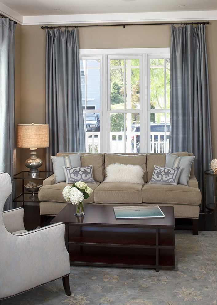 Pottery Barn Living Room for a Traditional Living Room with a Metallic Accents and Mill Valley