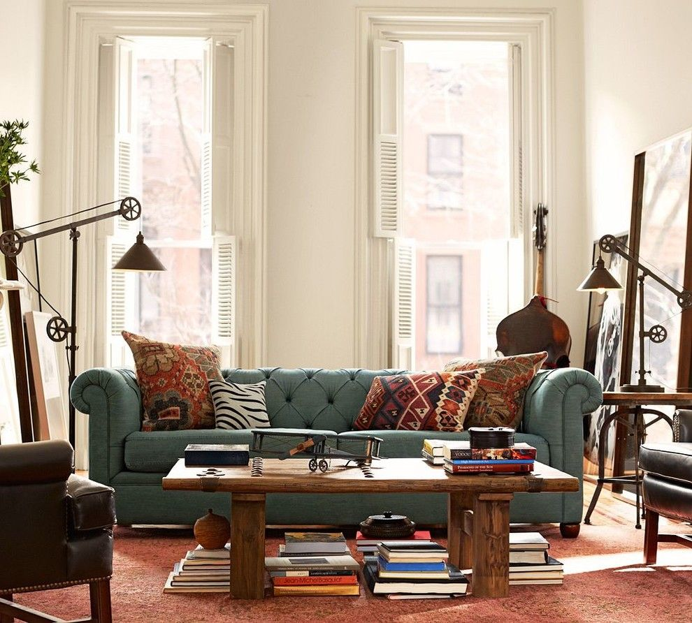 Pottery Barn Living Room for a Traditional Living Room with a Traditional and Pottery Barn by Pottery Barn