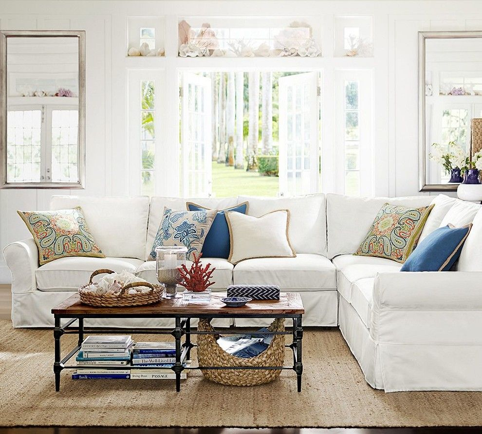 Pottery Barn Living Room for a Transitional Living Room with a Transitional and Pottery Barn by Pottery Barn