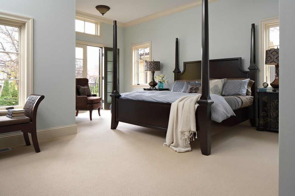 Pratt and Larson for a Traditional Bedroom with a Tigressa and Bedroom by Carpet One Floor & Home