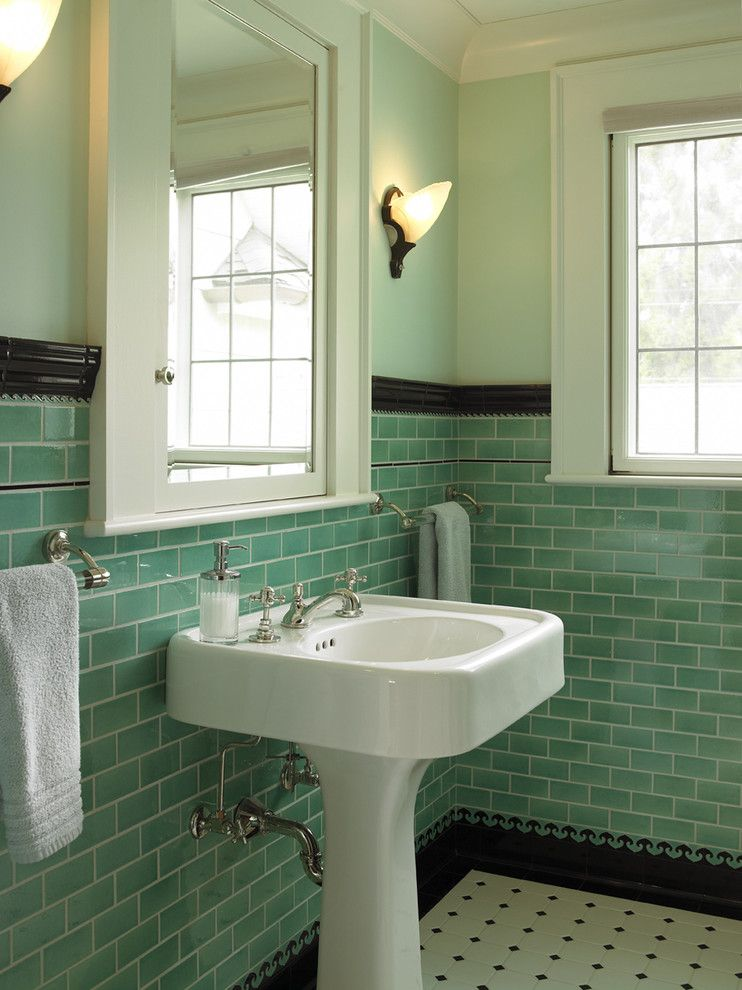 Pratt and Larson for a Traditional Powder Room with a Traditional and Everett Residence Powder Room by Goforth Gill Architects