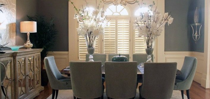 Precedent Furniture for a  Dining Room with a Upholstered Dining Chair and Dining Room - Precedent Furniture by Luxe Home Philadelphia