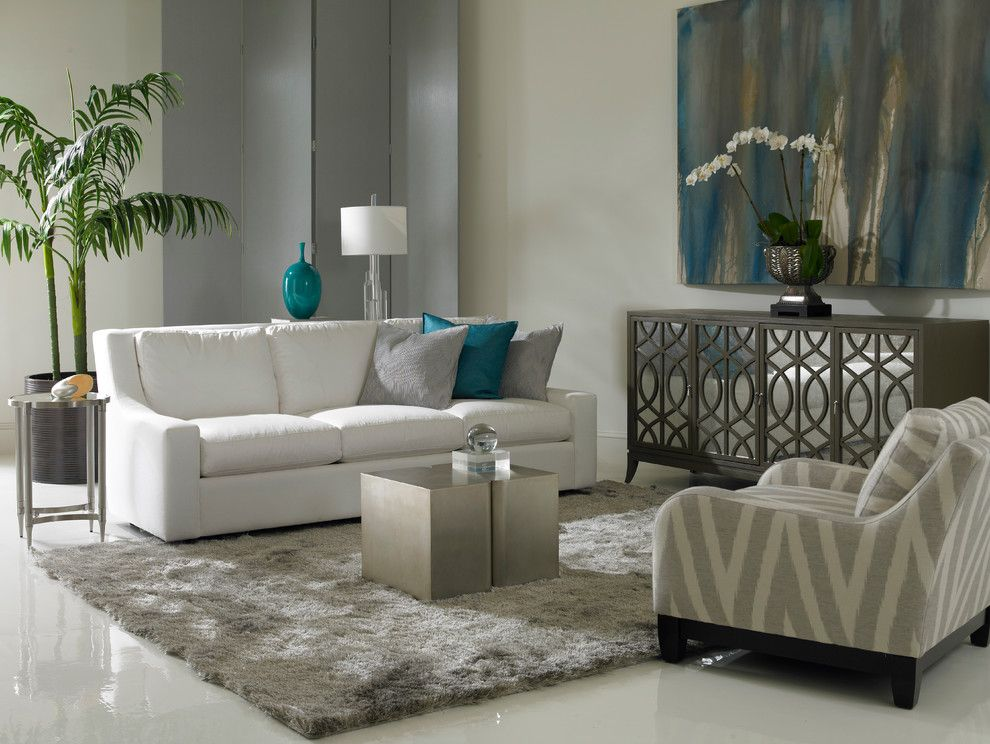 Precedent Furniture for a  Living Room with a Sofa and Living Room   Precedent Furniture by Luxe Home Philadelphia