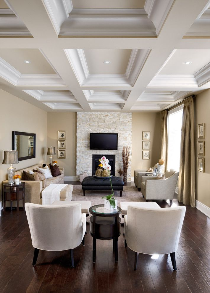 Precedent Furniture for a Traditional Living Room with a Fireplace Surround and Jane Lockhart Interior Design by Jane Lockhart Interior Design