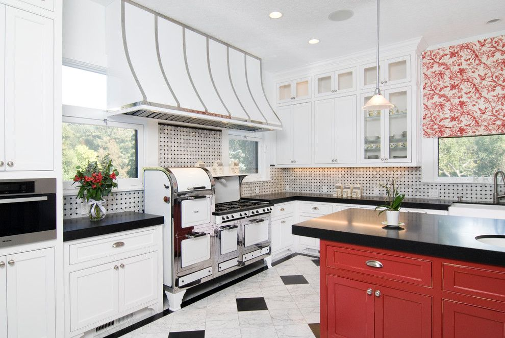 Precision Countertops for a Farmhouse Kitchen with a Precision Cabinets Trim and #70 – Slm Builders – San Rafael by Precision Cabinets