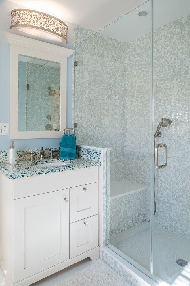 Precision Countertops for a Traditional Bathroom with a Glass and Rumsonmh by Town & Country Kitchen and Bath